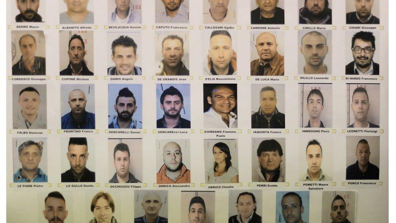 FOTO - Operazione Factotum: gli arrestatie le immagini della conferenza stampa