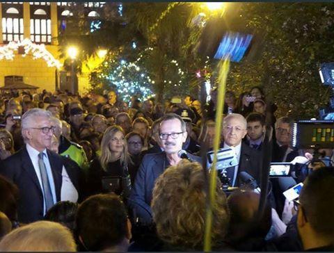 Tornano le luci d'artista a Salerno, Rocco Papaleo testimonial