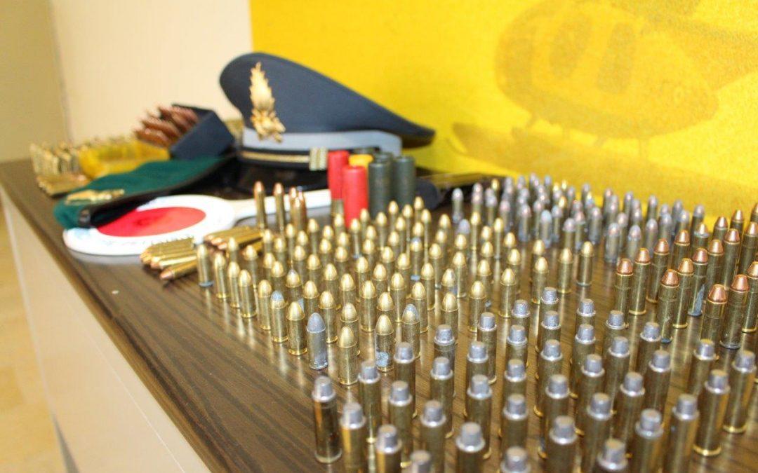 Le munizioni sequestrate