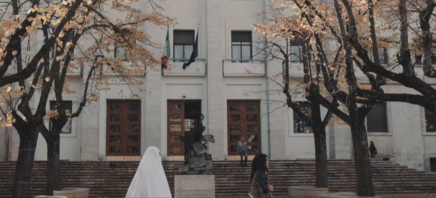 Un frame del video girato a Cosenza