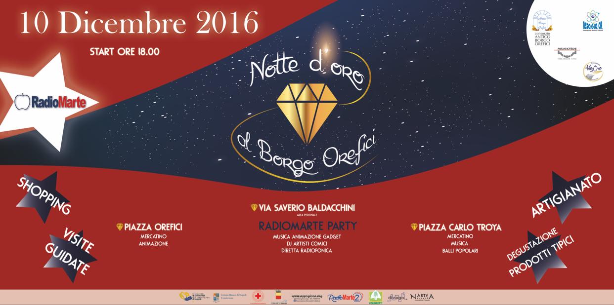 Napoli, al Borgo Orefici la notte d'oro