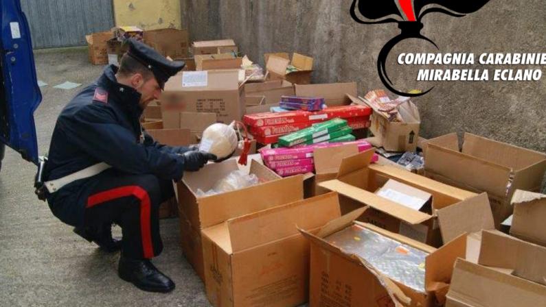 Venticano, sequestrati 500kg di fuochi pirotecnici dal valore di 60mila euro