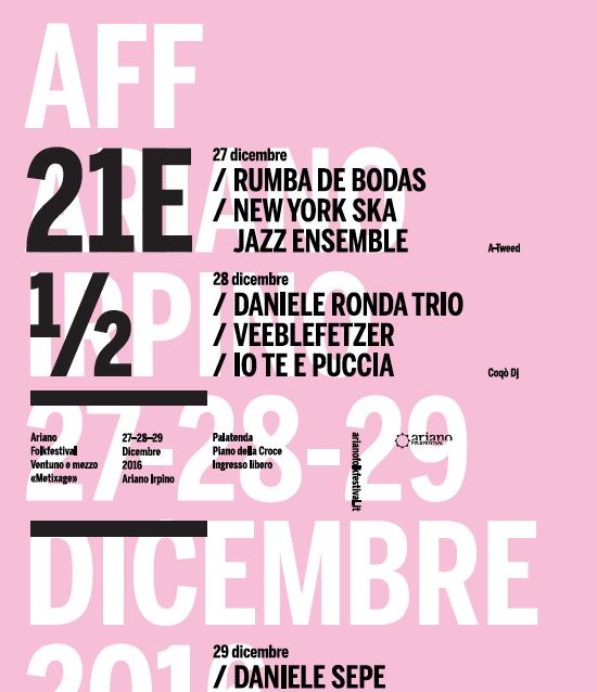 """Ariano Irpino, dal 27 al 29 dicembre Ariano FolkFestival al Mexitage """"Winter"""""""