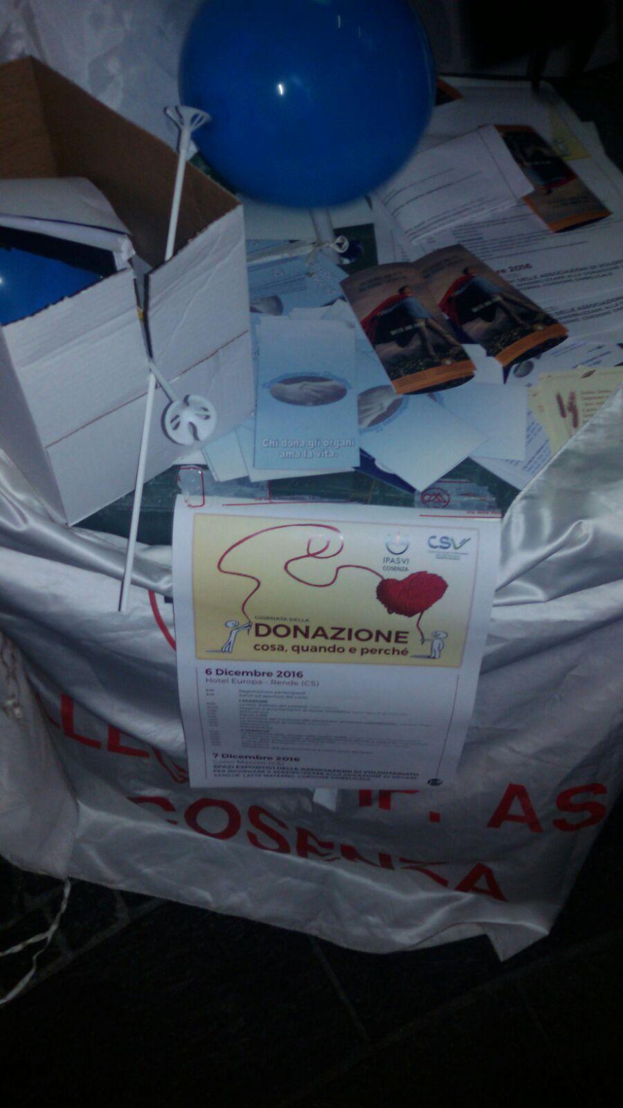 FOTO - A Cosenza lo stand di Ipasvi e Csv per la Giornata della Donazione degli organi