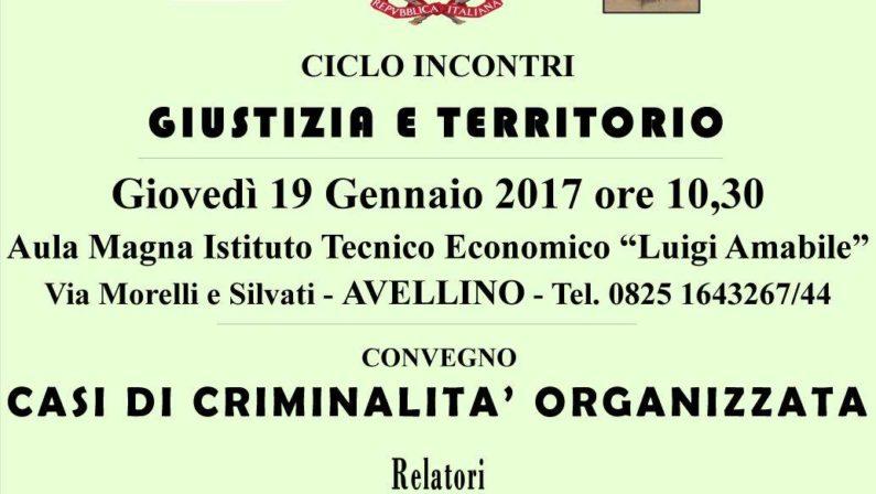 """Avellino, alla scuola Amabile l'incontro """"Giustizia e territorio"""""""