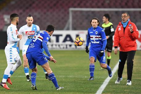 Il Napoli batte la Sampdoria all'ultima azione: 2-1