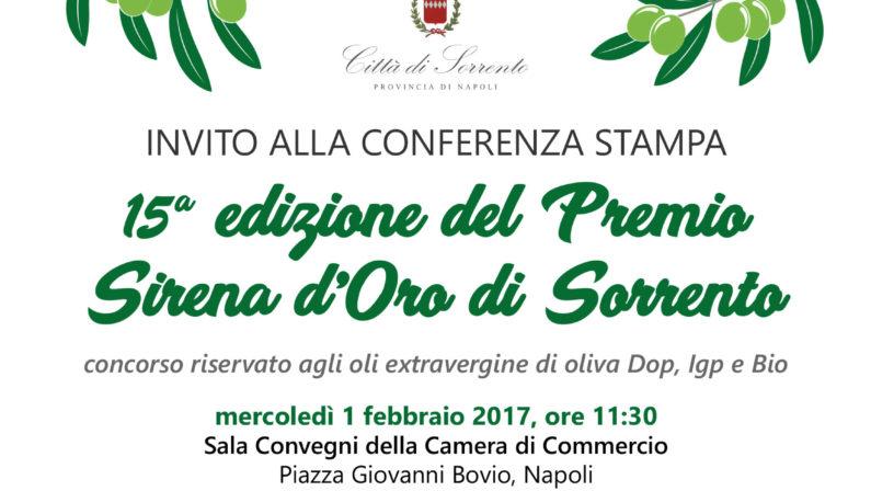 Sirena d'oro, premiazione alla CCIAA di Napoli