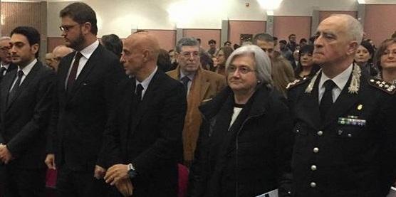 La cerimonia a Reggio con Minniti, Bindi e Del Sette