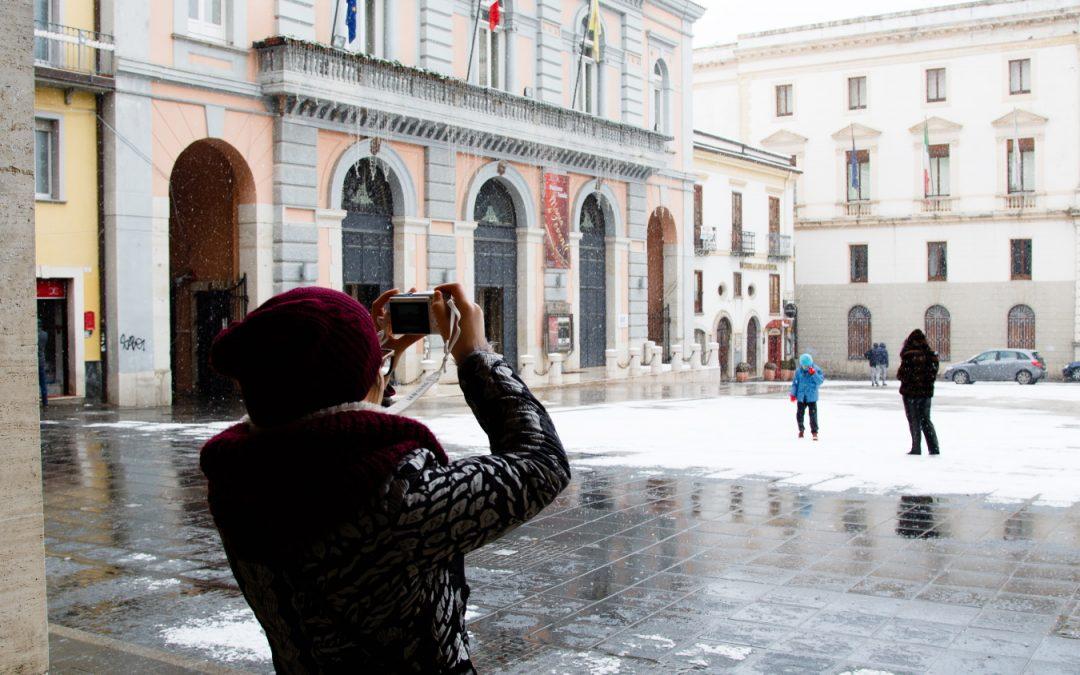 Una nevicata a Potenza nel gennaio 2'017 (foto A. MATTIACCI)