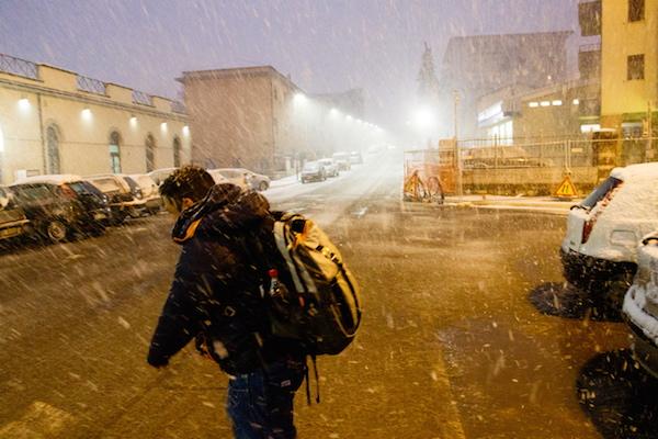 FOTO – Dopo meno di una settimana riecco la neve a Potenza (e non solo)