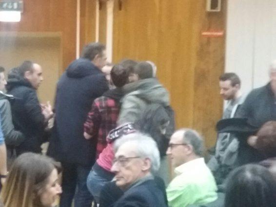 FOTO – I momenti concitati dell'aggressione a Roberto Speranza all'università di Potenza con Zerocalcare