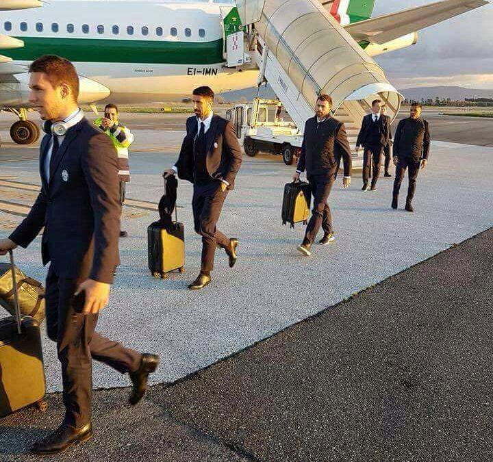 L'arrivo della Juve a Lamezia lo scorso anno