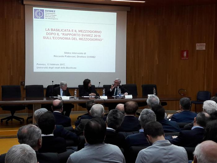 Il biennio d'oro del Pil lucano: all'Unibas i numeri del Rapporto Svimez