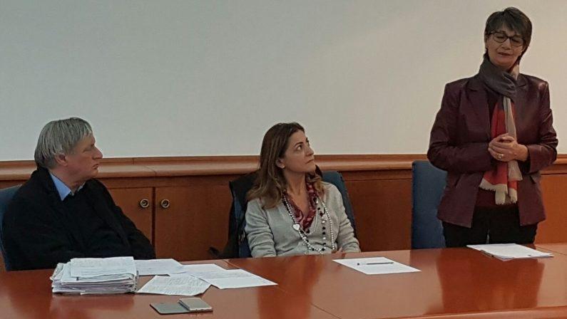 FOTO - Don Luigi Ciotti incontra i giornalisti nella redazione del Quotidiano del Sud