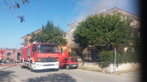 Esplosione bombola di gas a Nocera