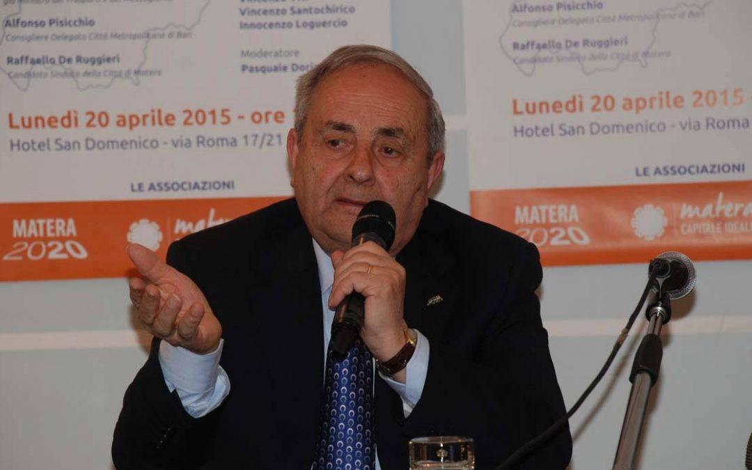Raffaello De Ruggieri ex sindaco di Matera
