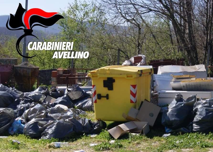 Smaltimento illecito di rifiuti: 40enne irpino denunciato dai Carabinieri e area sequestrata