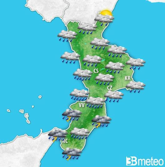 Meteo, maltempo diffuso su tutta la CalabriaE la protezione civile lancia un bollettino di allerta