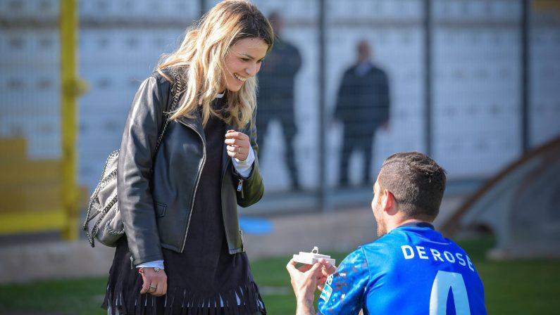 Il calciatore di Cosenza e la proposta di matrimonioDichiarazione di De Rose dopo la gara del Matera