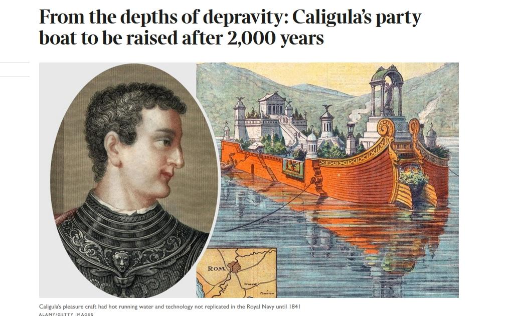 Alla ricerca della nave dell'imperatore Caligola: dall'Arpacal in Lazio per svelare i segreti del mare