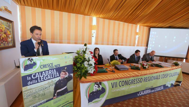Giuseppe Brugnano confermato segretario regionaleIl Coisp Calabria a congresso sui temi della legalità