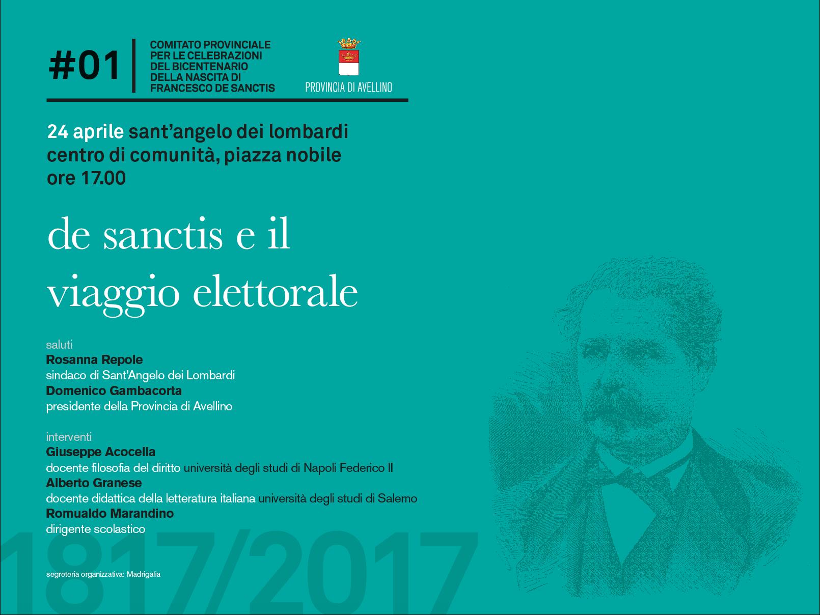 Al via le celebrazioni del bicentenario della nascita di Francesco De Sanctis