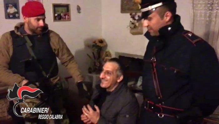 Arrestato il latitante reggino Giuseppe Facchineri  Fatale l'incontro con la moglie organizzato nella notte