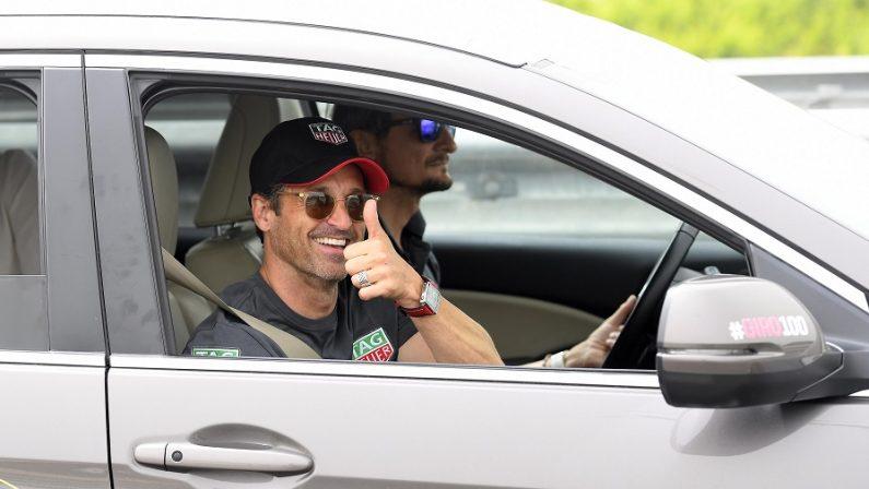 FOTO - Patrick Dempsey a Castrovillari alla partenza del Giro d'Italia