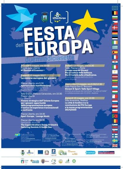 Festa dell'Europa 2017: la Città di Avellino si prepara a celebrare la ricorrenza