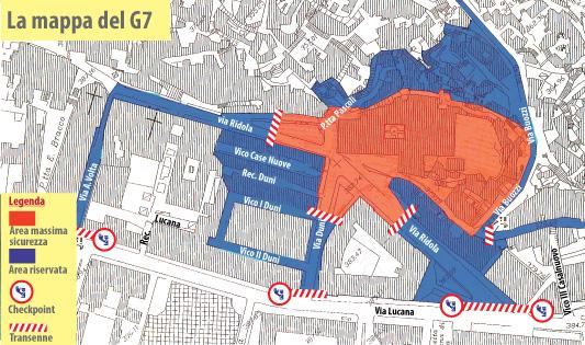 G7 in una Matera blindata, la mappa dei divieti e le misure di sicurezza