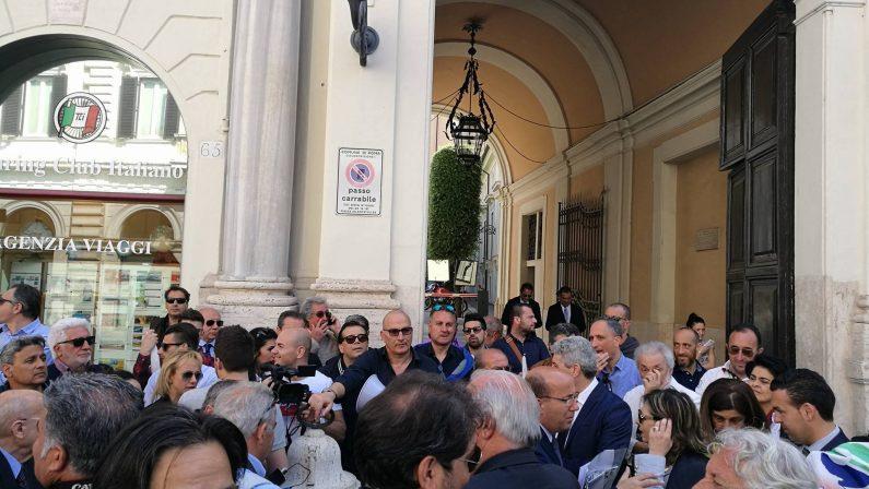 FOTO - No alla chiusura del tribunale di Rossano, protesta a Roma