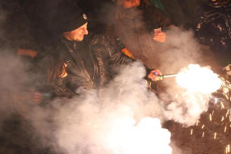 A Napoli fuochi d'artificio per il ko della Juventus