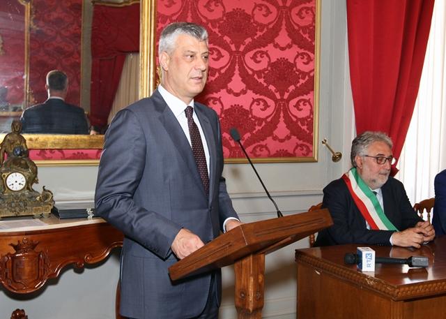 FOTO – Il presidente del Kosovo visita la Provincia di Cosenza e l'Unical