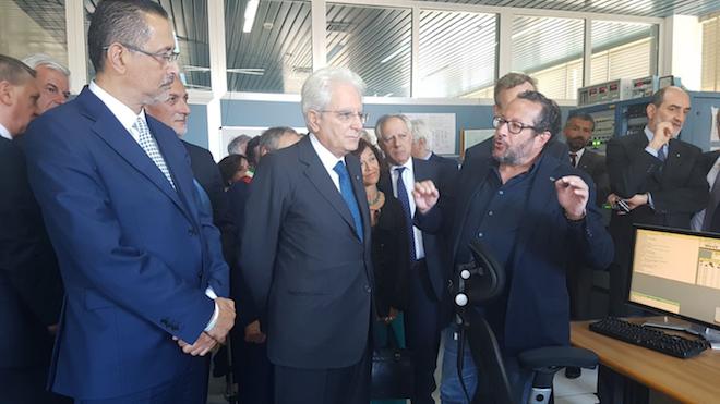 Un momento della visita del presidente Mattarella