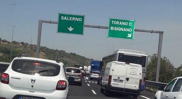 Un tratto dell'autostrada Salerno Reggio Calabria