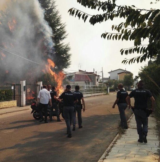 Un incendio nel Cosentino
