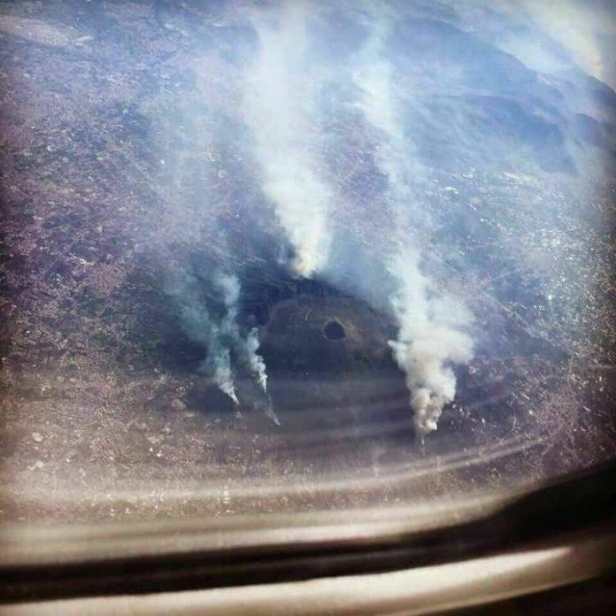 Incendio al Vesuvio: coltre di fumo oscura il cielo di tutta la Campania: allerta rossa della Protezione Civile