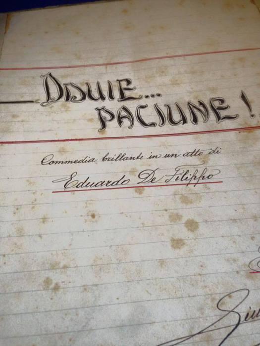 Napoli, da archivio spunta un 'EduardoDe Filippo' sconosciuto alle bibliografie, è inedito oppure un fake?