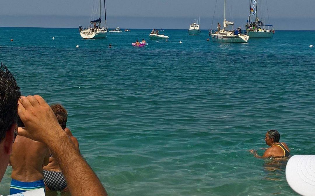 FOTO – La traversata da Stromboli a Tropea  L'impresa di Notarianni per amore del figlio