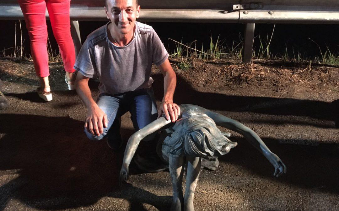 Vibo, svelato il mistero della statua del lago Angitola  Conferme e smentite ufficiose della Sovrintendenza