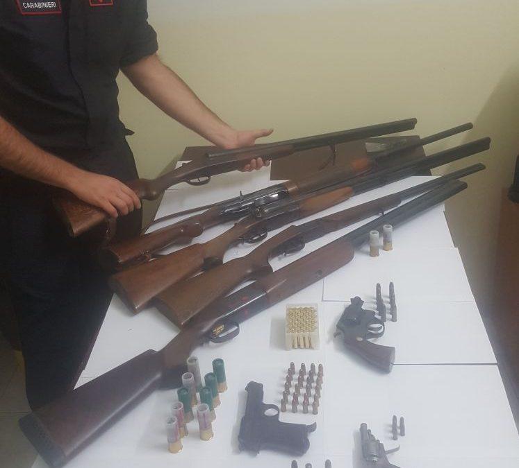 Parte delle armi sequestrate