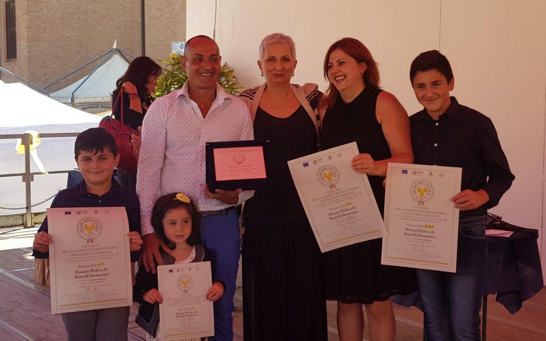 In alto, ai lati, Domenico e Melissa Martelli con i 3 figli