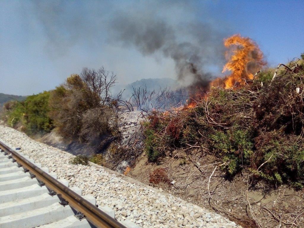 Provoca incendio lungo la linea ferroviariaDenunciato un operaio nel Crotonese