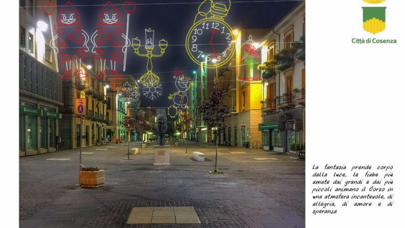 Luminarie 2017, a Cosenza si punta alle fiabe della Disney: ecco le idee
