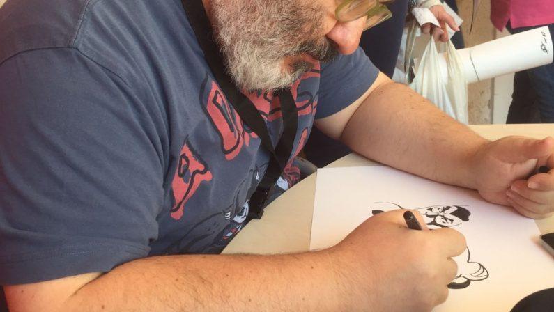 VIDEO - Festival del Fumetto di Cosenza, Giuseppe Palumbo e le tavole di Diabolik