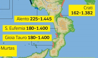 L'allarme dei Geomorfologi: Gioia Tauro, il golfo di Sant'Eufemia, la foce del Crati rischiano di essere sommerse entro il 2100