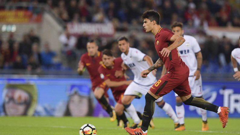FOTO -Crotone sconfitto di misura all'Olimpico, Perotti su rigore regala i tre punti alla Roma