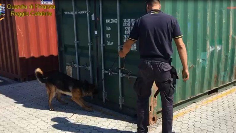 Oltre trecento chili di cocaina purissima nascosti in un container e sequestrati al porto di Gioia Tauro