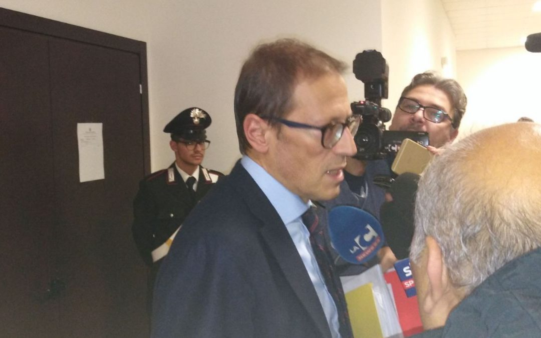 Il procuratore capo di Castrovillari Eugenio Facciolla alla fine dell'incidente probatorio