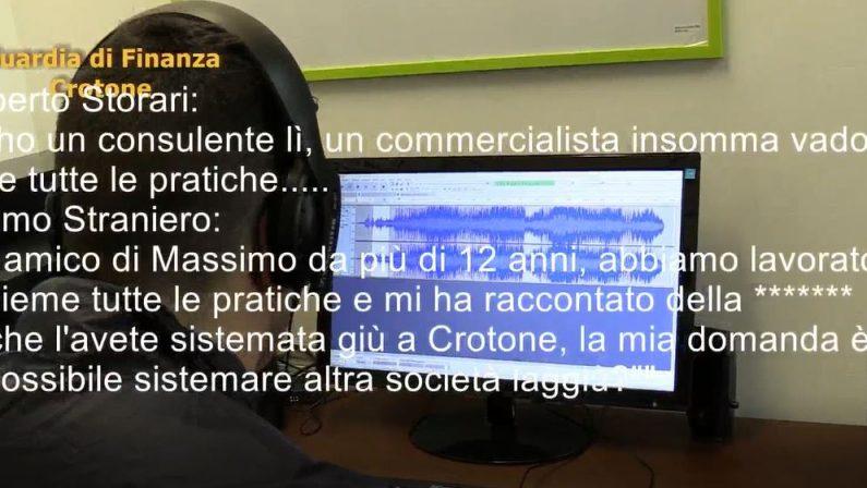 VIDEO - Operazione Ginetto, le intercettazioniFrodavano lo Stato facendo fallire le società a Crotone